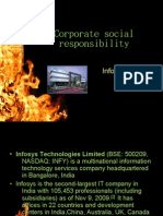 Corporate Social Responsibility in Infosys