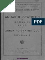 Anuarul Statistic Al României, 1925