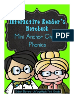 Interactive Mini Anchor Charts Reader's Notebook