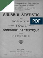 Anuarul Statistic Al României, 1924