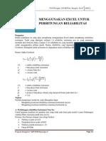 Bab v (Perhitungan Reliabilitas)