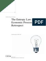 Entropy Law Retrospect