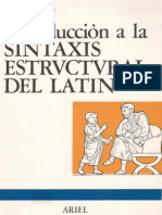 Lisardo Rubio, Introducción a La Sintaxis Estructural Del Latín