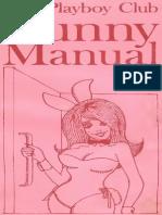 Playboy Bunny Manual 1969