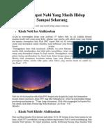 Kisah Empat Nabi Yang Masih Hidup Sampai Sekarang.pdf
