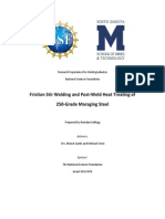Friction Stir Welding and Post-Weld Heat Treating of Maraging Steel [Final Report] (1)