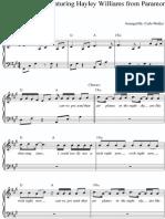 BOB Airplanes Piano Sheet Music Free