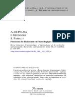 Processus de décision et cinétique logique