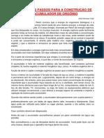 Artigo - Os Primeiros Passos para a construção de um Acumulador de Orgônio (09 pgs)