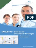Sistema extracción de sangre Tubos vacuette
