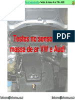 Teste Do Sensor de Massa de Ar AUDI e VW