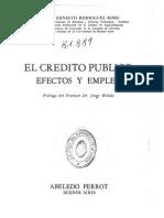 El Crédito Público, Efectos y Empleo - Rodriguez Rossi