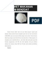 Pengawet Makanan Natrium Benzoat