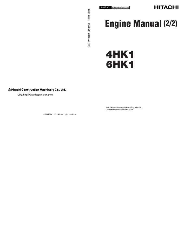 4HK1 6HK1 manual Internal Combustion Engine – Isuzu 4hk1 Engine Timing Diagram