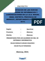 Uso de Las Tecnologias de Informacion y Comunicaciones en La II Milan Durand s.