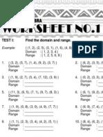 1 Advanced Algebra Worksheet