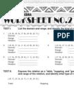 2 Advanced Algebra Worksheet