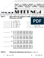 4 Advanced Algebra Worksheet