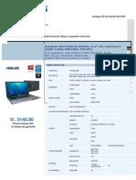 Cotizacion Laptop ASUS Core i7