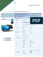 Cotizacion Laptop ASUS Core i5