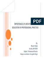 Architectural Education in Professional Practice 1 [Compatibility Mode]