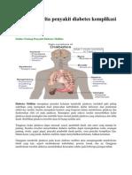 Kasus Penderita Penyakit Diabetes Komplikasi Kolesterol