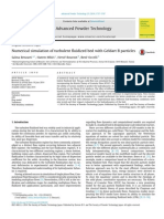 Numerical Simulation of Turbulent Fluidized Bed With Geldart B Particles 2014 Advanced Powder Technology