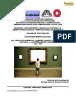 Carlos Enrique Guzmán Cárdenas Las cifras de los museos y artes visuales vzla 2005