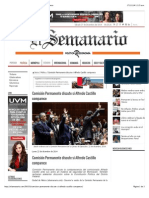 27-12-14 Comisión Permanente Discute Si Alfredo Castillo Comparece