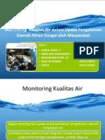 Monitoring Kualitas Air Dalam Upaya Pengelolaan Daerah Aliran