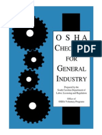 o s h a Checklist for General Industry Souaaaaaaaaaaaaaaaaaaaaaaaaaaaaaaaaath