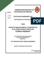 Proyectoarquitectonicoy Constructivodela Unidadmedicaparticularclinicavazquez (1) (1)