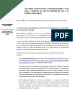 Propuesta Para La Recuperación de La Paga Extra de 2012 de Los Trabajadores Municipales