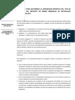 Propuesta Para La Aprobación Definitiva Del Tipo de Gravamen Del IBI Para 2015