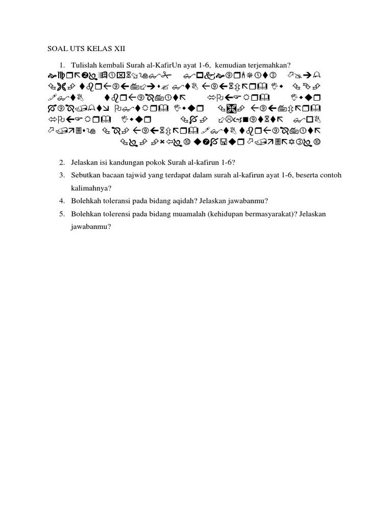 Soal Uts Kelas Xiidocx