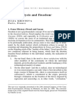 Psychoanalysis and Freedom - Julia Kristeva