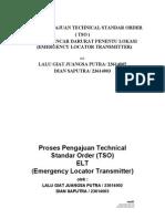Alat penentu lokasi pada saat emergency (Emergency Locator Transmitter)