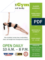 Gym Flyer Example