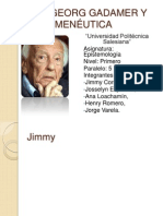 Hans Georg Gadamer y La Hermenéutica