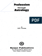 Profession  Astrology by O P Verma