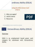 Understanding the Extraordinary Ability EB1A Green Card