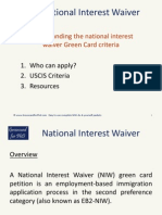 Understanding the National Interest Waiver Green Card
