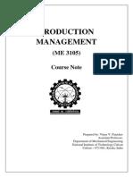 Production Management Module 1 Course Notes