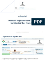 E-Tutorial - Migrated Deductor Registration and Login