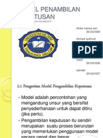 power point Model Pengambilan Keputusan