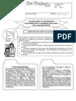Ficha Los Derechos Del Nino y El Adolescente