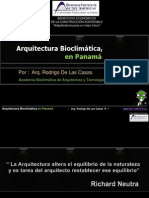 Arquitectura Bioclimatica en Panama