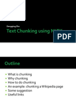 Text Chunking using NLTK