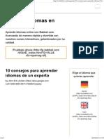 10 Consejos Para Aprender Idiomas