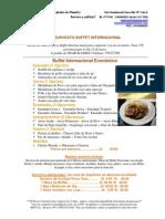 Presupuesto Buffet Internacional Hechoencasa 150p PILAR ÁLVAREZ